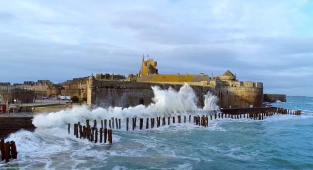 Les grandes marées à Saint Malo - Bretagne