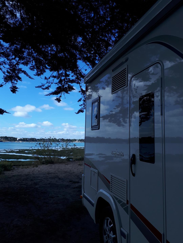 Le Golfe du Morbihan en camping-car : vue sur mer