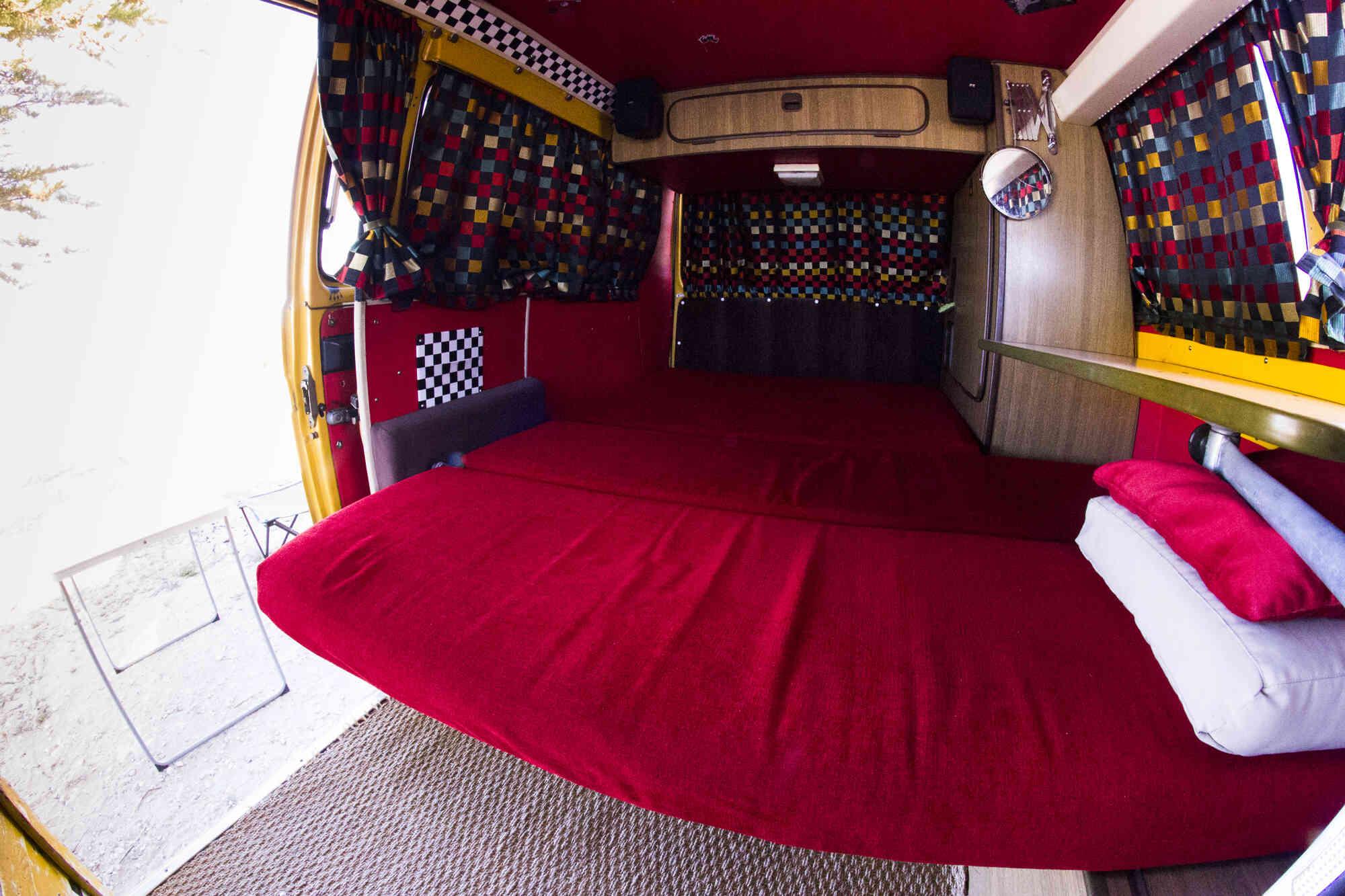 camping-car VOLKSWAGEN WESTFALIA COMBI T3   intérieur / autre couchage