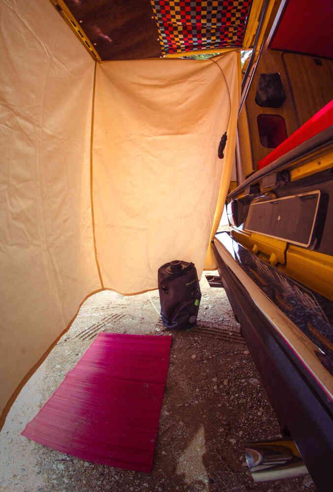 camping-car VOLKSWAGEN WESTFALIA COMBI T3   intérieur / coin salon