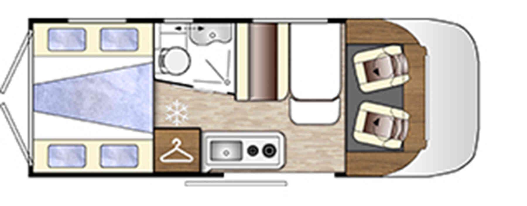 camping-car BENIMAR BENIVAN 118  intérieur / autre couchage