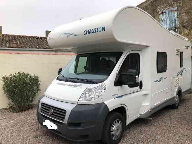 camping-car CHAUSSON FLASH 15  extérieur / latéral gauche