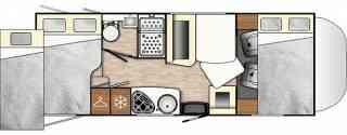 camping-car BENIMAR SPORT UP 340  intérieur / soute