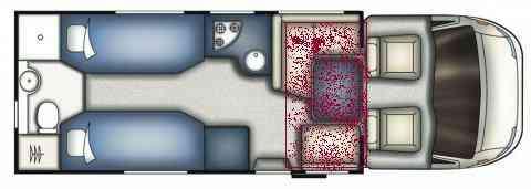 camping-car MC LOUIS MC4 / 75  intérieur / soute