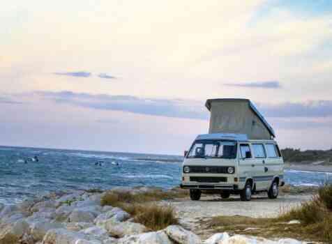 camping-car VOLKSWAGEN COMBI TRANSPORTER T25 T3 DIESEL WESTFALIA  extérieur / latéral gauche