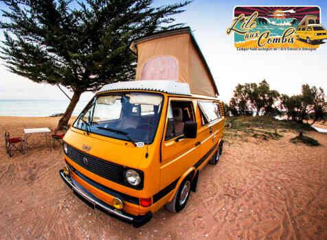 camping-car VOLKSWAGEN COMBI WESTFALIA T25 T3 AIRCOOLED 5 PLACES  extérieur / latéral droit