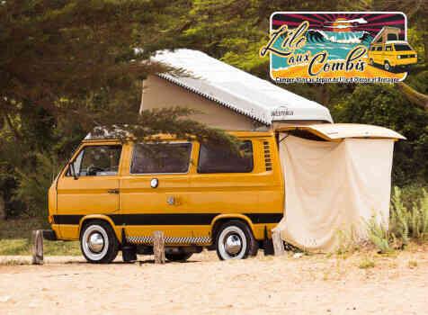camping-car VOLKSWAGEN COMBI WESTFALIA T25 T3 AIRCOOLED 5 PLACES  intérieur / soute