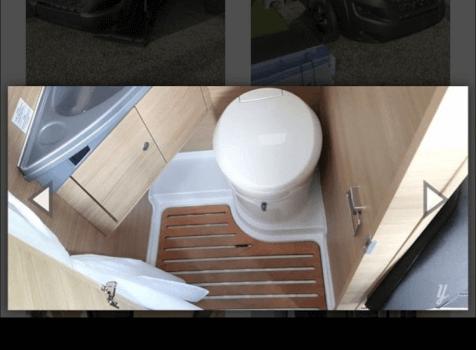 camping-car ROADCAR 540  intérieur / couchage principal