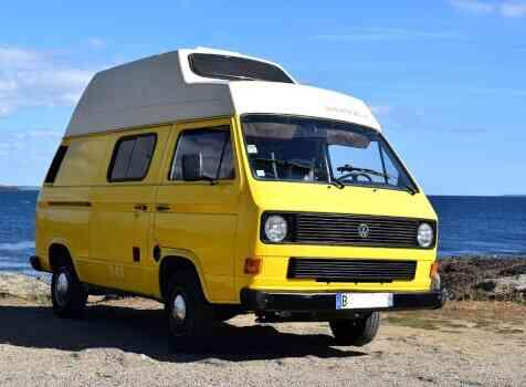camping-car VW T3 WESTFALIA  extérieur / latéral gauche