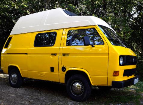 camping-car VW T3 WESTFALIA  extérieur / latéral droit