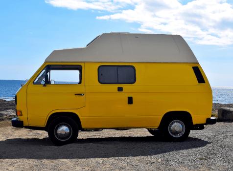 camping-car VW T3 WESTFALIA  extérieur / arrière