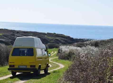 camping-car VW T3 WESTFALIA  intérieur / coin salon