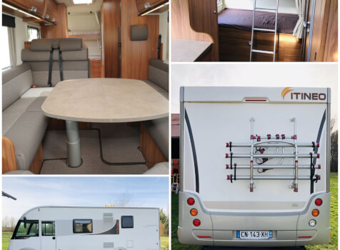 camping-car ITINEO SB 720  intérieur / salle de bain  et wc