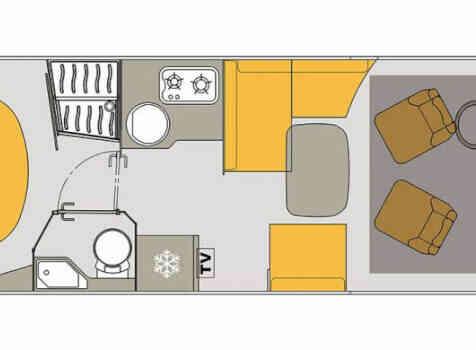 camping-car BAVARIA 741 LC  intérieur / soute