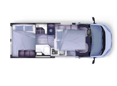 camping-car CAMPEREVE CAMPER VAN XL (PRO)  intérieur  / coin cuisine