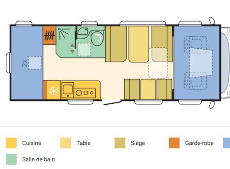 camping-car ADRIA CORAL XL  intérieur / salle de bain  et wc