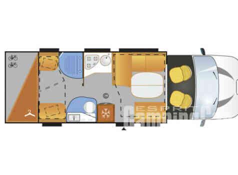 camping-car CHALLENGER GENESIS 396  extérieur / latéral gauche
