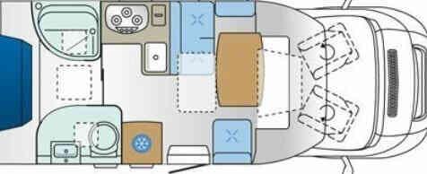 camping-car ROLLER TEAM GRANDUCA  intérieur / autre couchage