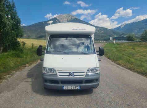 camping-car CHALLENGER EDEN 601  extérieur / latéral gauche