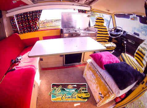 camping-car VOLKSWAGEN COMBI WESTFALIA T25 T3 AIRCOOLED 5 PLACES  intérieur / autre couchage