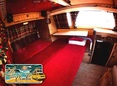 camping-car VOLKSWAGEN COMBI WESTFALIA T25 T3 AIRCOOLED 5 PLACES  intérieur / salle de bain  et wc