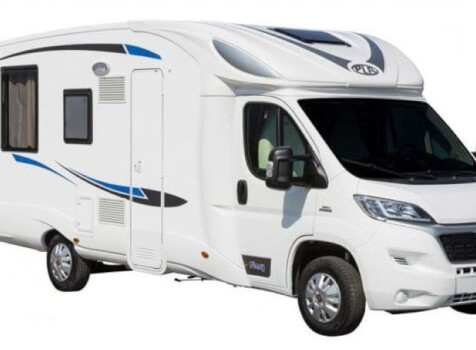 camping-car  PLASY HP74  extérieur / latéral droit