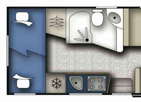 camping-car MOOVEO C7  intérieur / couchage principal