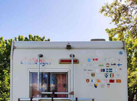 camping-car CHALLENGER   extérieur / arrière