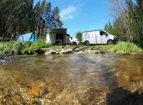camping-car    TRANSPORTER T 5  intérieur / autre couchage