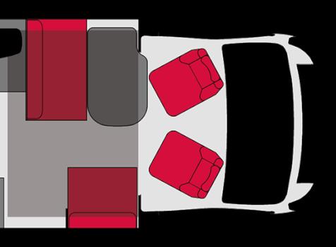 camping-car PILOTE P 746 GJ  intérieur / coin salon