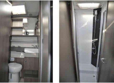 camping-car CHALLENGER 358 VIP  intérieur / salle de bain  et wc