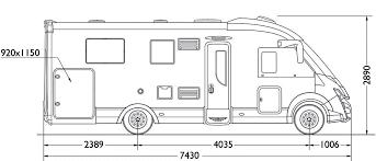 camping-car MOBILEVETTA YACHT TECHNO LINE 89  extérieur / latéral droit