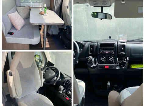 camping-car CARADO   intérieur / coin salon