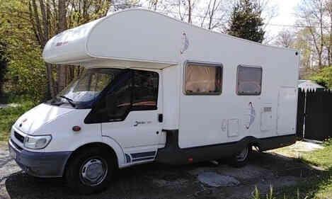 camping-car SIRIO 599  extérieur / latéral gauche