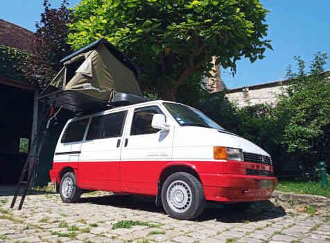 camping-car VOLKSWAGEN T4  extérieur / latéral droit