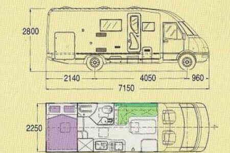 camping-car MOBILVETTA EUROYACHT 190 LX